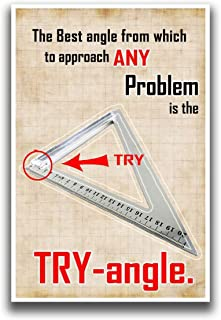 The Best Angle to Solve Any Problem Poster | 12-Inches By 18-Inches | JSC104