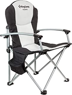KingCamp Heavy Duty Steel Camping Director's Folding Chair with Cooler Bag