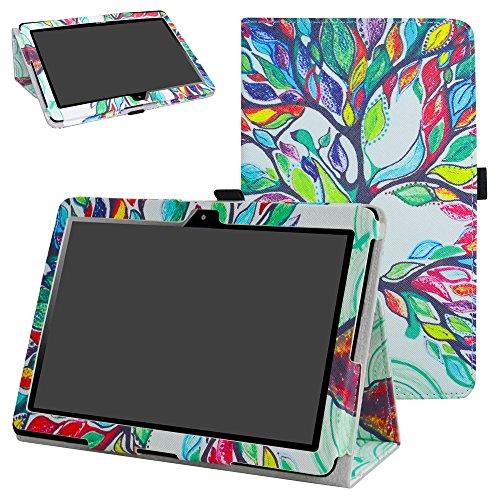"""MAMA MOUTH MediaPad T3 10 Tablet Custodia, Slim Sottile di Peso Leggero con Supporto in Piedi Caso Case per 10.1"""" Huawei MediaPad T3 Tablet PC,Love Tree"""