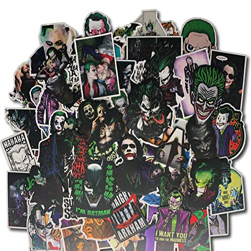 YLGG 100 pieces commemorating the clown waterproof graffiti stickers for laptops, skateboards, suitcases, helmets, mobile phones, motorcycles,etc