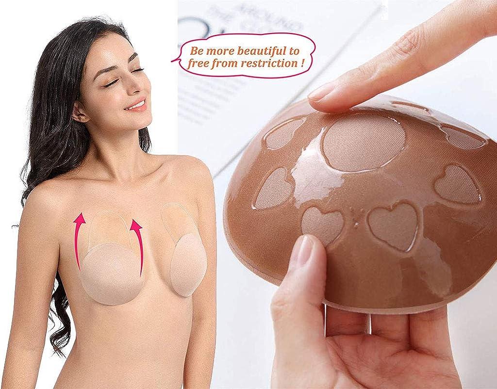 CheChury Damen Nipple Cover Silikon-Gel Wiederverwendbar Nippelabdeckung Brustaufkleber B/üstenhalter Adhesive Push up Brustwarzenabdeckung