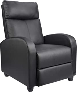 Homall Recliner Chair Padded Seat Massage PU Leather for Living Room Single Sofa Recliner Modern Recliner Seat Club Chair ...