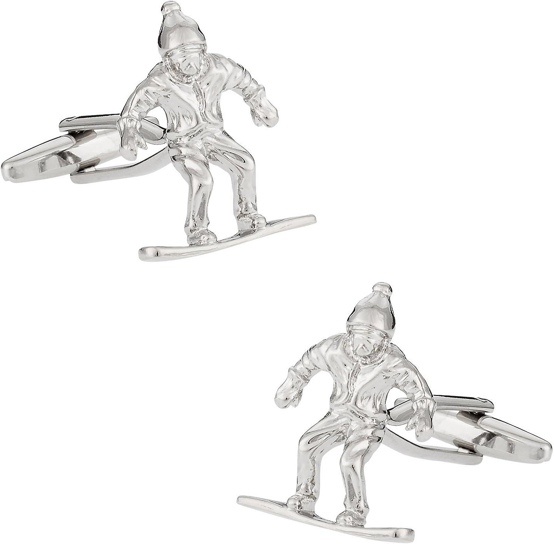 Snowboarding Snowboard famous Cufflinks with Box Presentation Dedication