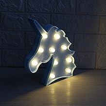 LED Eenhoorn Nachtlampjes Sfeerlicht Bureaulampen Babykamer Kinderkamer Decoratie (blauw)