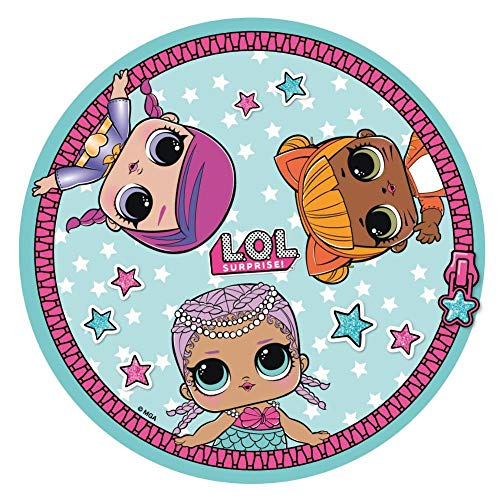 Cerda LOL Surprise Dolls, Ronde Beach Handdoek, Blauw, 130 X 130 centimeter