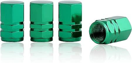 Green Tire Valve Caps