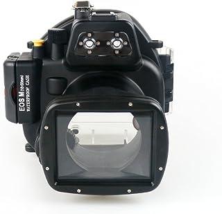 Sea Frogs 40m/130ft 水中カメラケース アンダーウォーターハウジング キヤノン Canon EOS M1 eos m1 防水ケース 防水ハウジング 保護ケース 防水プロテクター 水中撮影用 国際防水等級IPX8