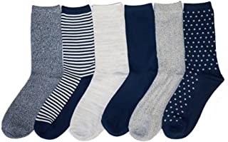 Womens 6 Pack Supersoft Warm Crew Socks