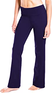 "Yogipace 27""/28""/29""/30""/31""/32""/33""/35""/37"" Inseam,Petite/Regular/Tall, Women's Bootcut Yoga Pants Long Workout Pants"