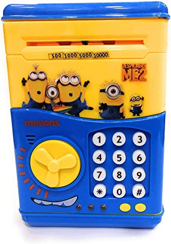 Baghwale Products Present Money Safe ATM Kids Piggy Saving Bank With Electronic Lock Piggy Bank ATM With Password Cartoon Piggy Bank For Kids