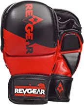 Revgear Pinnacle MMA Gloves | Classic MMA Sparring Glove Design | Multi Layer Foam Padding Over The Knuckles | Thumb Prote...