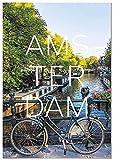 Panorama Lienzo Ciudad de Amsterdam 70 x 100 cm - Impreso en Lienzo Bastidor - Cuadros Decoración Salón - Cuadros para Dormitorio - Cuadros Lienzos Decorativos - Cuadros Modernos