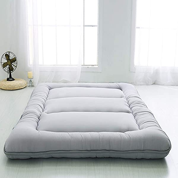 Japanese Floor Mattress Futon Mattress Thicken Tatami Mat Sleeping Pad Foldable Roll Up Mattress Boys Girls Dormitory Mattress Pad Kids Floor Lounger Bed Couches And Sofas Grey King Size
