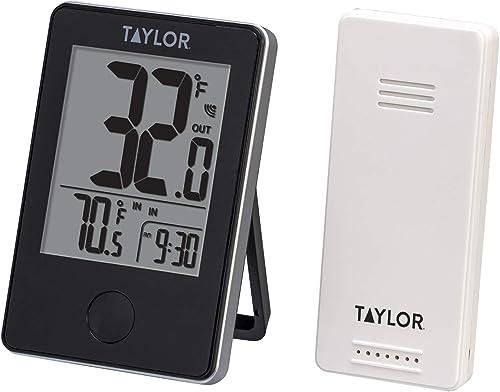 Taylor Precision Products Termómetro digital inalámbrico para interiores y exteriores