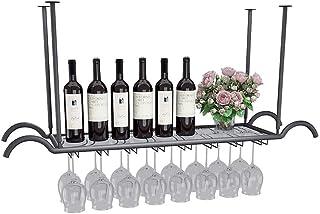 Ybzx Porte-Verres à vin Support de séchage à l'envers Suspendu Porte-Verres à vin Organisateur pour Support de décor de Ba...