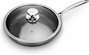 Cooking Pots Pans Frying pan Coated Stainless Steel Handle Multilayer Material with Honeycomb Structure Suitable for Induc...