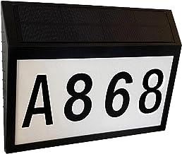 A/O Huisnummerbord op zonne-energie, led-huisnummerplaat, waterdicht, draadloos, anti-corrosie-plaatje