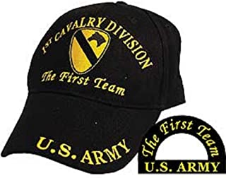 K's Novelties 1st Cavalry Division The First Team U.S. Army Division Embroidered Cap Hat Adjustable