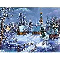 冬の雪DIY5Dダイヤモンド絵画フルスクエアドリルランドスケープダイアモント刺繡クロスステッチキットクリスマスギフト