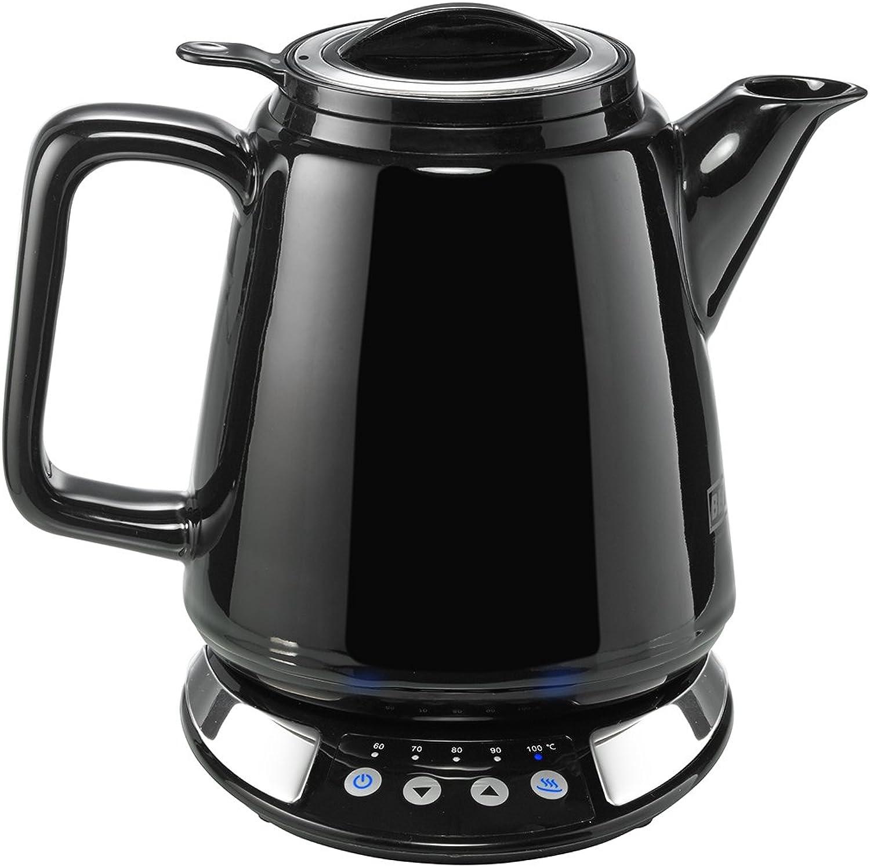 BEEM i-Tea Porzellan, Wasser- und Teekocher aus Porzellan mit Temperatureinstellung, Temperatureinstellung, Temperatureinstellung, schwarz B00WJPR25U 6325ae