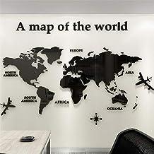 Mapa Del Mundo 3D Cristal Tridimensional Pegatinas De Pared Oficina Estudio Sala De Estar Sofá Fondo Tatuajes de Pared Dec...