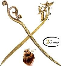FINGER LOVE Fashion Vintage Design Alloy Hair Pins Stick Fork Hairpin (D)