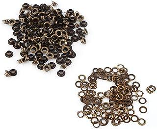 Kit Gromett, œillets en laiton, attaches durables, pour artisanat en cuir bricolage couture vêtements accessoire en cuir(5mm)
