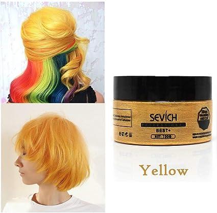 Yiitay crema de pelo, pelo desechable color cera peinado ...