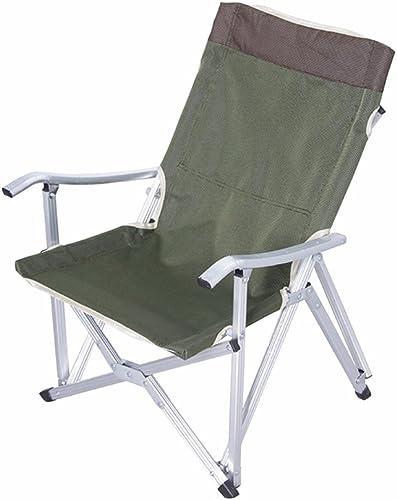 YLLYZ Chaise Pliante extérieure Chaise de Salle à Manger paresseuse Chaise de pêche Portable Pique-Nique Camping Tabouret de Bar