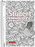 Fontana 106742801Blocco note/quaderno a quadretti Student zenart Octopus, formato A4, Rigatura 28, 90G/M², 80fogli