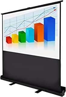 "60"" Diagonal 4:3 HD Pull Up Floor Projector Screen 48""x36"" 1.3 Gain Home Projection w/Aluminum Case"