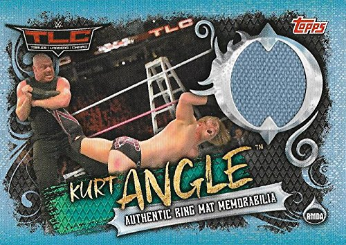 SLAM ATTAX LIVE WWE Kurt Angle Ring Mat Memorabilia Tables Ladders Chairs TLC 2017