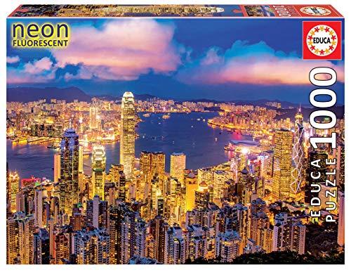 Educa - Hong Kong ´Neon´ Puzzle, 1000 Piezas, Multicolor (18462)