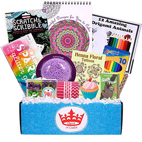 Beyond Bookmarks Queen of Crafts - Birthday Gift or Summer Camp Care Package for The Creative Girl