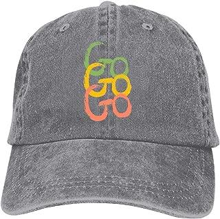 LeoCap Go Go Go Baseball Cap Unisex Washed Cotton Denim Hat Adjustable Caps Cowboy Hats