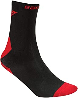 Hockey Core Performance Low Skate Socks, Compression Fit, Black/Red