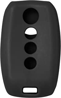 Silicone Cover Protective Case for Select Kia Vehicles with Push-Button Ignition That Use Prox Smart Keys SY5XMFNA433, SY5XMFNA04 (1 Pack) - Black