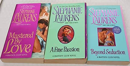 Stephanie Laurens: 3 Book set: Softcover: Beyond Seduction:Mastered By Love: A Fine Passion: Very Good