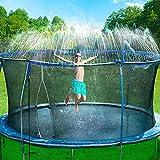 Bobor Trampoline Sprinkler for Kids, Outdoor Trampoline Backyard Water Park Sprinkler Fun...