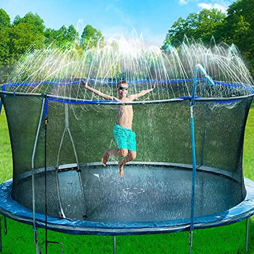 Bobor Trampoline Sprinkler for Kids, Outdoor Trampoline...