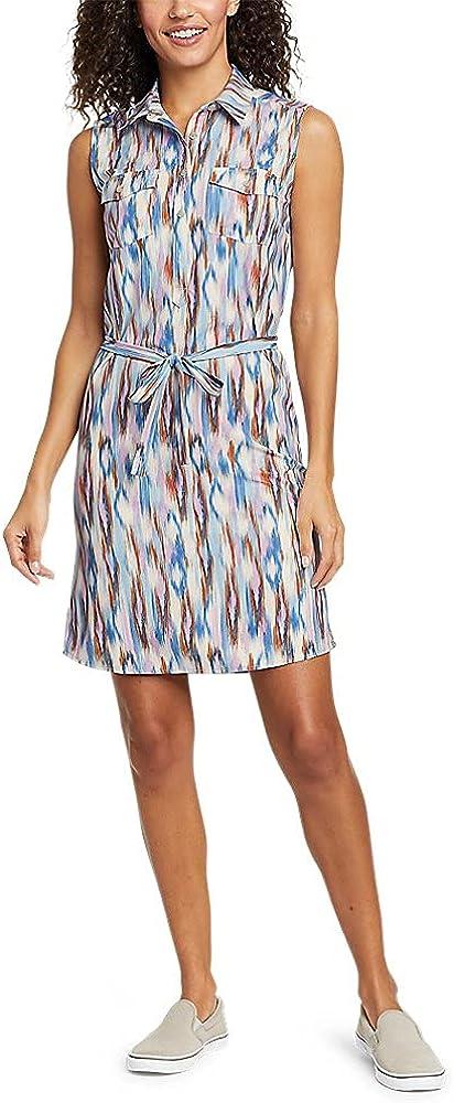 Eddie Bauer Women's Departure Sleeveless Shirt Dress - Print