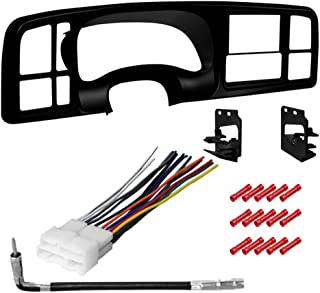 CACHÉ KIT2733 Bundle with Car Stereo Installation Kit for 1999 – 2002 GMC Sierra 1500 – in Dash Kit, Antenna, Harness, for Double Din Radio Receivers (4 Item)