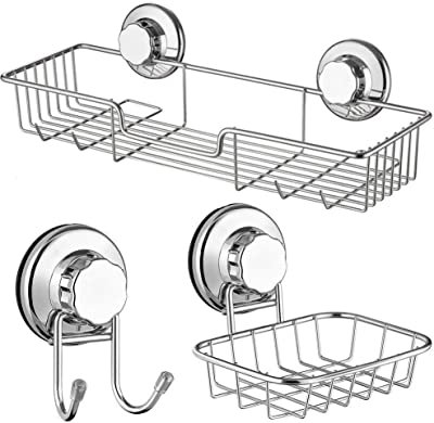 ARCCI Vacuum Suction Cup Shower Caddy Shampoo Conditioner Holder Shelf for...