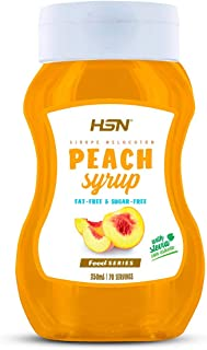 HSN Peach Syrup | Low Calorie, Fat Free, Sugar Free, Stevia Sweetened | Non GMO | 350ml…