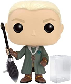 Funko Pop! Movies: Harry Potter - Quidditch Draco Malfoy Hot Topic Exclusive Vinyl Figure (Includes Pop Box Protector Case)