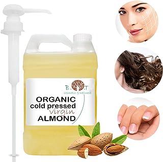 Aceite de Almendras Certificado Ecológico - Prensado en Frío - 100% Puro - 5000 ml