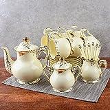 Teeservice Kaffeetasse-Kombination von keramischem schwarzem Tee-Schalen-Tee-Satz-Schalen-Teller, zum des Löffels zu senden Kaffeetasse (UnitCount : 15pieces Suit)