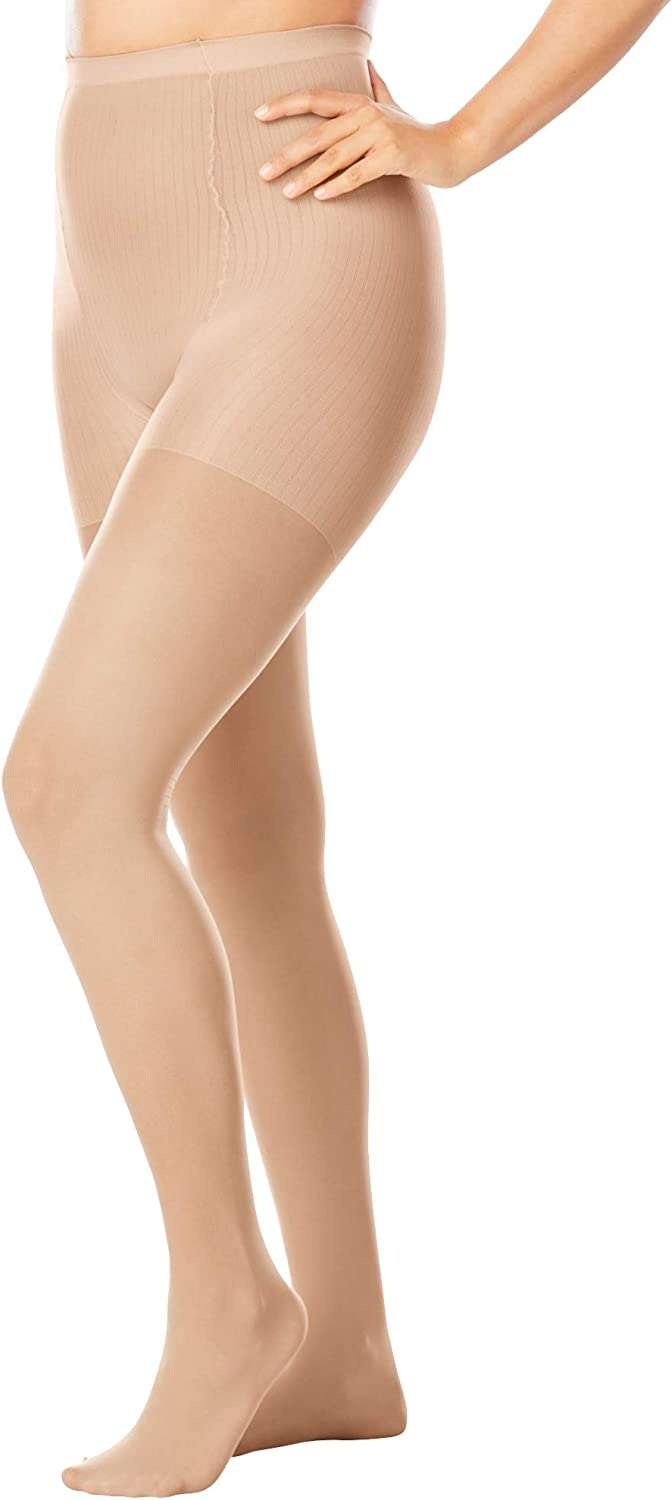 Comfort Choice Women's Plus Size 2-Pack Control Top Tights