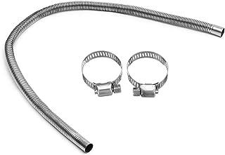 Coversolate Edelstahl Abgasschlauch Auspuffrohr Auspuff, Covermason Gas Entlüftungsschlauch für Autos Diesels Heizung Kraftstofftank