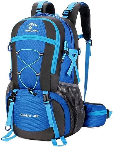 Le Sac De Sport De Grande Capacité Randonnée Alpinisme Sac épaule Sac De Loisirs De Plein Air, Hommes Et Femmes, Sac De sacages,bleu